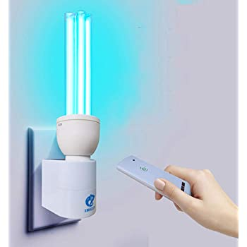GsMeety Purificador de Aire para ozono Esterilización lámpara UV germicida esterilizador, Bombilla LED de luz UV, UV lámpara germicida Desinfección del Bulbo,6000k ...