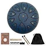 SOBW Steel Tongue Drum Portable Hand Drum 6 Inch Percussion Instrument 11 Notes Tongue Drum Handpan...