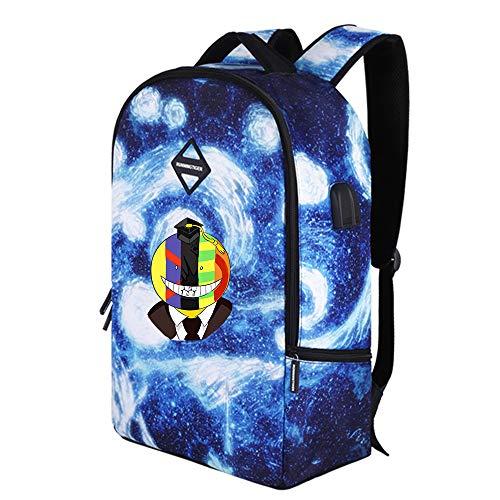 Assassination Classroom Mochila de Gran Capacidad Mochila for niños Personalidad Mochila Escolar Casual Starry Sky Travel Bag para Mujeres y Hombres (Color : A26, Size : 31 x 15 x 48cm)
