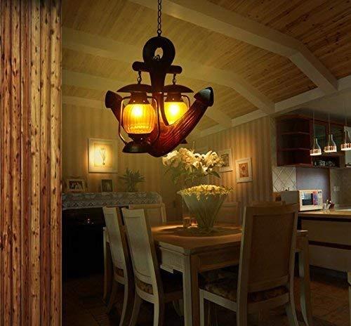 MJY Techo de madera de creación Retro, Lámpara Muebles Decoración Restaurante Decoración...