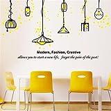 Bomeautify Adesivi e murali da parete murale Lampadina gialla cucina divano sfondo soggiorno soffitto giardino vento lampadario sfondo Europeo ornamenti di carta luci, 50 * 70 cm