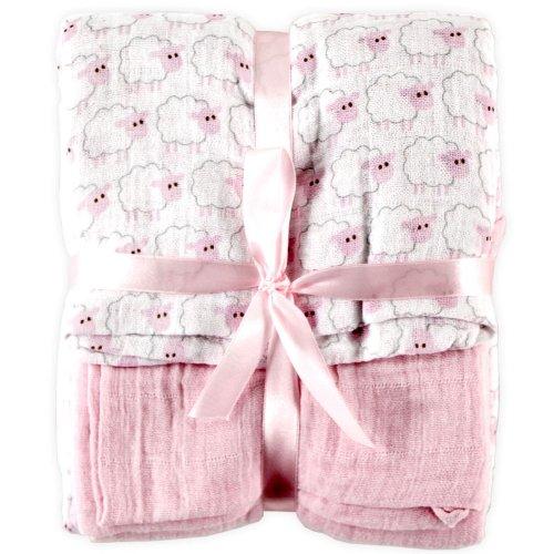 Hudson - Manta de muselina para bebé, Rosado, Una talla