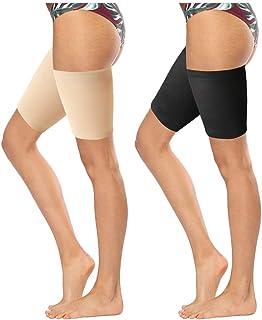 4 pares de bandas elásticas para muslo, bandas para muslo antirozamiento para mujer, evita que se caigan los muslos, bandas invisibles para muslos