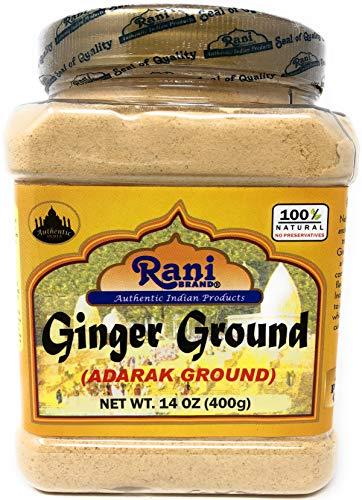 Rani Ginger (Adarak) Powder Ground, Spice 14oz (400g) PET Jar ~ Natural | Vegan | Gluten Friendly |...
