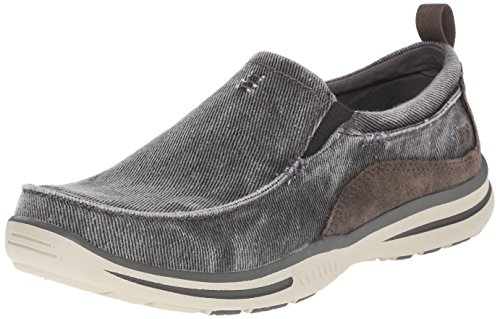 Skechers Men's Relaxed Fit Elected Drigo Slip-On Loafer,Charcoal,14 3E US