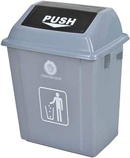 WWWXD Ménagers en Plastique Poubelle, Cuisine Haute capacité Trash Can Couvert Trash Can Déodorant Poubelle Mêle Corbeille...