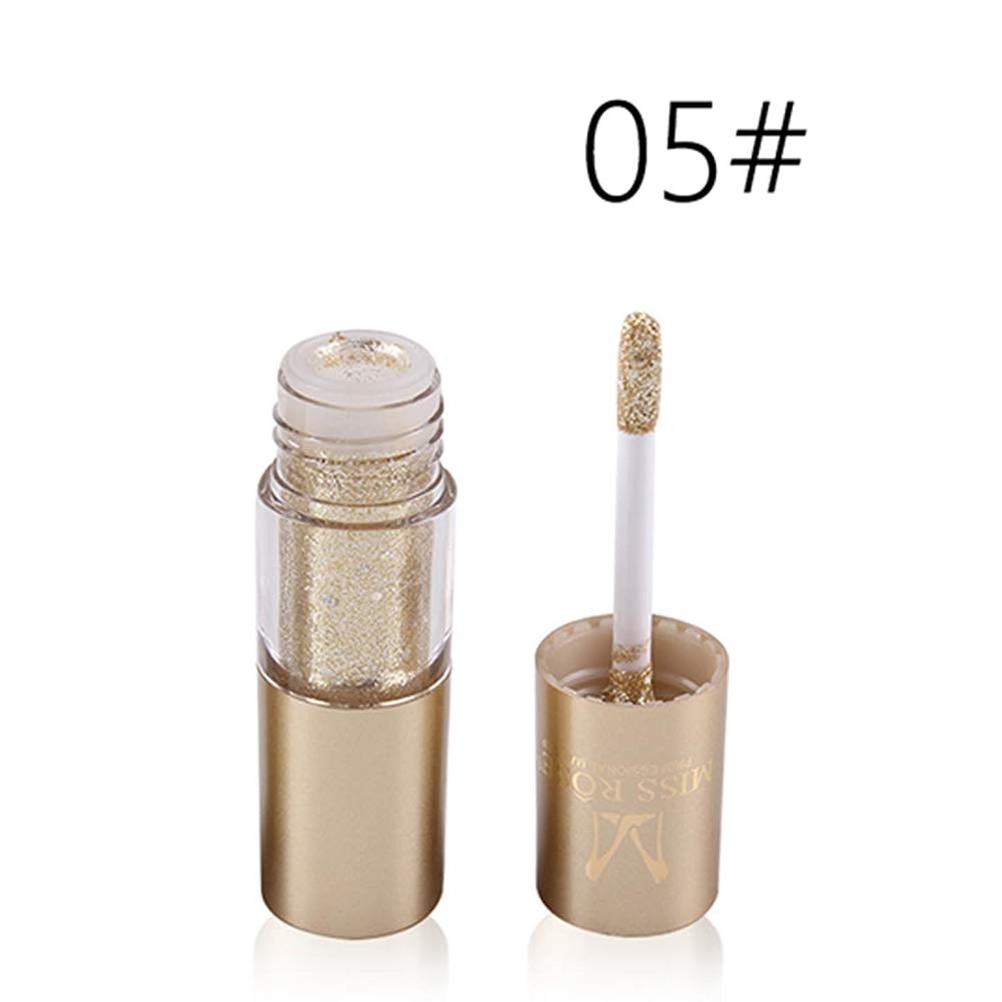 液化するスラッシュ臭いシャイニーリキッドロングシマーメタリックグリッターアイシャドウ、アイメイク、化粧品、ロテクト(M05)