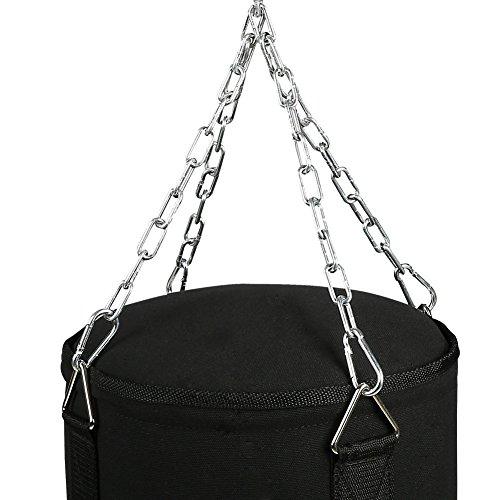 CCLIFE Boxsack Set Gefüllt Boxen Sandsack 80x30 cm 19kg Mit Boxhandschuhen  Abbildung 2
