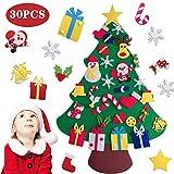 BangShou DIY Navidad Decoración Colgante Año Regalo 3D Arbol de Navidad de Fieltro Decoración navideña Infantil Adornos Desmontables Año Regalo para Niños