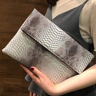 iBag's Folding Envelope Bag 2018 New Clutch Bag Female European And American Trend Snake Pattern Hand Wild Party Bag Shoulder Bag F47