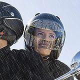 Adhesivo para Visera de Casco de Motocicleta Cojzlx 4PCS Insertar Película Anti Vaho Agua Visera Ultra Claro, Moto Accesorios Escudo Lente Protectora Universal Transparente para Casco de Moto