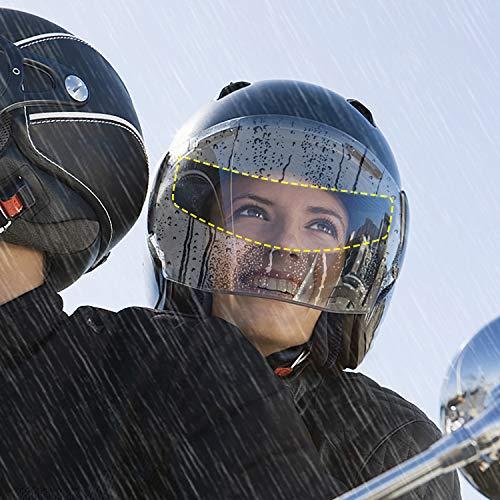 Cojzlx Pellicola Anti Appannamento per Casco Moto Pellicola Universale Potettiva Trasparente per casco da moto Pellicola Visiera per Lenti Impermeabili Elmetto Moto Nebbia Ultra Disc Sticker,4PCS