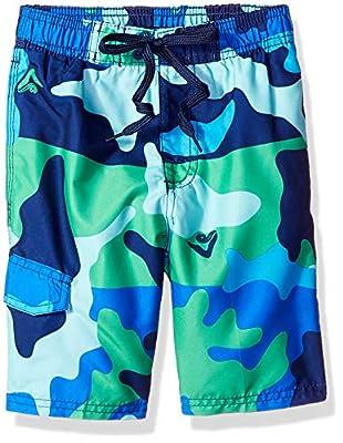 Kanu Surf Boys' Big Viper Quick Dry UPF 50+ Beach Swim Trunk, Surf Camo Blue/Green, 14/16