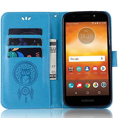 Capa flip para Moto G6 Play, capa carteira para Moto G6 Play, capa de couro para Moto G6 Play, capa flip floral em couro PU com suporte para cartão de crédito para Moto G6 Play de 5,7 polegadas