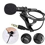 RFV1(tm) Digital Noise Cancellation Clip Collar Mic Condenser For YouTube Video | Interviews | Lectures | News | Travel Videos, Mic for All Mobile, Pc, Laptop,Action & DSLR Camera's - Black