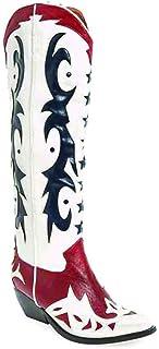 Botas JEFFREY CAMPBELL Starwood White+DK Red+Blue