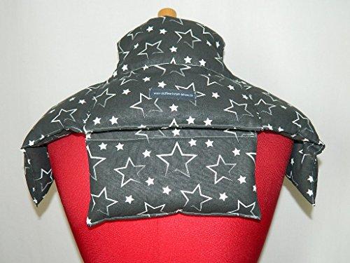 4 in 1 Wärmekissen Dinkelkissen Körnerkissen Sterne schwarz
