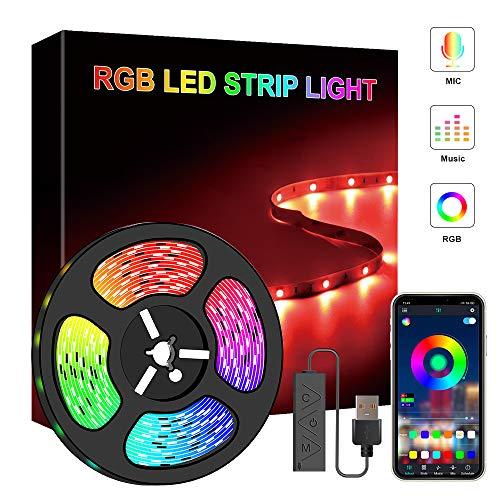 Speclux USB LED-Lichtleisten, 1M RGB LED-Lichtleiste mit Bluetooth-APP-Controller, SMD 5050 TV Hintergrundbeleuchtung Hintergrundbeleuchtung für Heimschlafzimmer TV Weihnachtsfeier Dekoration