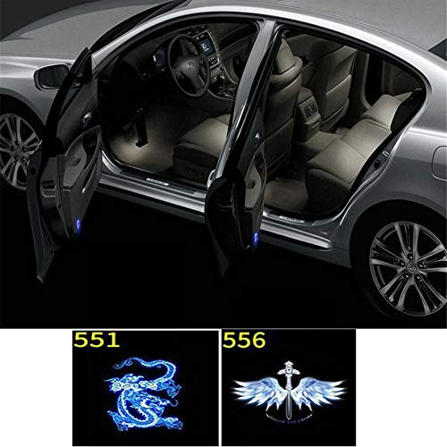 LALAWO Einstiegsbeleuchtung 2pcs for Persönlichkeit Auto-Logo-Projektor Tür Willkommenslicht Einstiegsbeleuchtung Universal Wireless Infrarotsensor Autotüren Einstiegsleuchte (Color : 551)