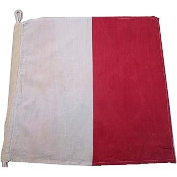 "100/% Cotton – Marine Code Nautical // Boat R 15/"" X 15/"" Naval Signal Flag"