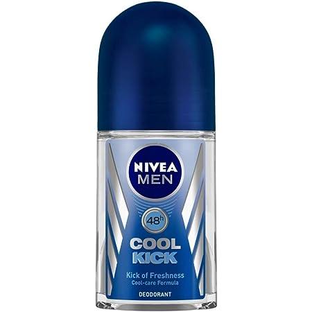NIVEA Men Deodorant Roll On, Cool Kick, 48h Long lasting Freshness, 50 ml
