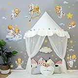 decalmile Pegatinas de Pared Ángel Vinilos Decorativos Estrella Nube Dulces Sueños Adhesivos Pared Habitación Oficina Guardería Niños Infantiles Bebés
