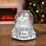 Globos de nieve musicales The Christmas Workshop | Decoraciones de Navidad para interiores...
