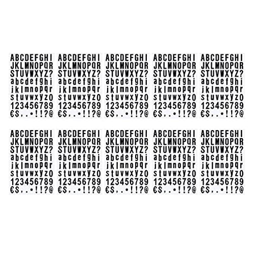 Angoily 10 Hojas Pegatinas de Letras del Alfabeto Autoadhesivas Pegatinas de Números 26 Letras Símbolos Signo A- Z Pelar Y Pegar para Grad Cap Decoración Cambiable Tablas de Letras