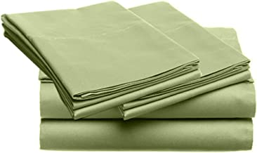 SUPER SOFT Microfiber Loft 21 Collection, FULL 4pc Sheet Set, 1-LOF21S-403, Solid SAGE