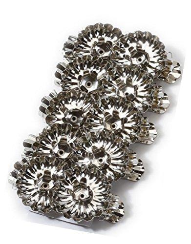 Inge-glas Kerzenhalter-Clip Metall 4 cm 10 STK | Clips Weihnachtsbaum Kerzen Weihnachten zum Anklemmen | (Silber)