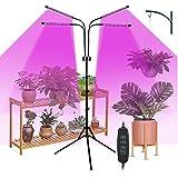 CalmGeek Lámpara para plantas invernal, 40 W, 80 LED, con temporizador para plantas de interior