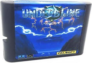 Royal Retro Ligne de morts-vivants pour console de jeux vidéo Sega Genesis et Mega Drive 16 bits (noir)