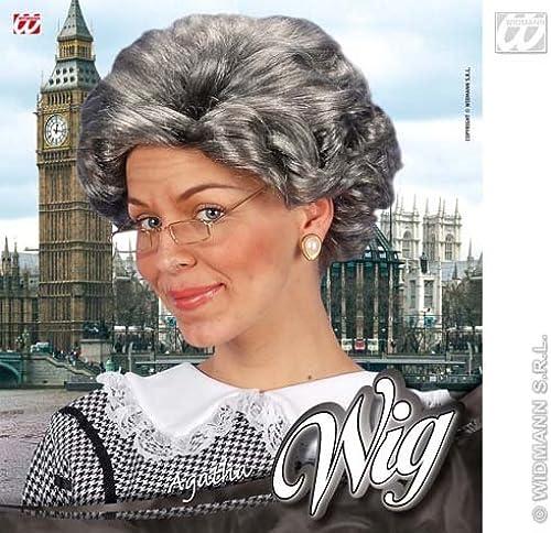 Agatha Chriscravate courte gris Wig Granny Nan Grandma Fancy Robe by Home & Leisure Online