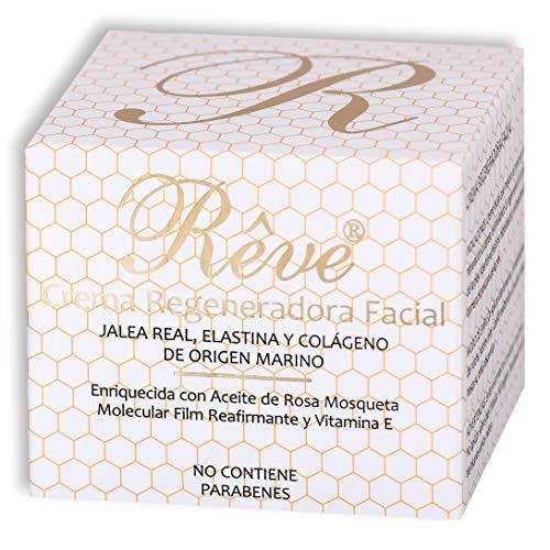 REVE Crema Rigenerante alla Pappa Reale + Elastina e Collagene di origine Marino + Vitamina E