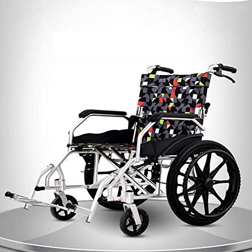 Rollstuhl, zusammenklappbar, bequem, atmungsaktiv, manuell, Aluminium, Multifunktions-Rollstuhl, tragbar