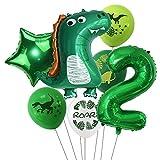 Haosell - Globo de dinosaurios para 2 años, diseño de dinosaurios verdes