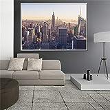 wZUN Póster de Rascacielos Nocturno de Dubai, China, Vista de la Ciudad, Pared de Nueva York, Imagen de Sala de Estar 60x90 Sin Marco