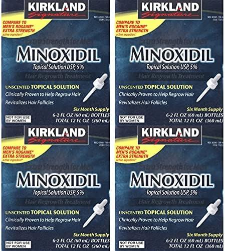 KIRKLAND Signature Extra Strength for Men Minoxidil Topical Solution, 12 Fluid Ounce