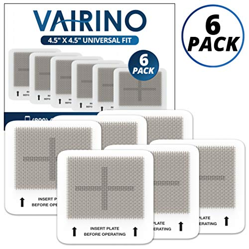 """VAIRINO Universal Ceramic Ozone Plates for Mammoth and Other Generic Air Purifier Ozone Generators, 4.5"""" x 4.5"""" Inches Replacement Ozone Plates (6 Pack)"""