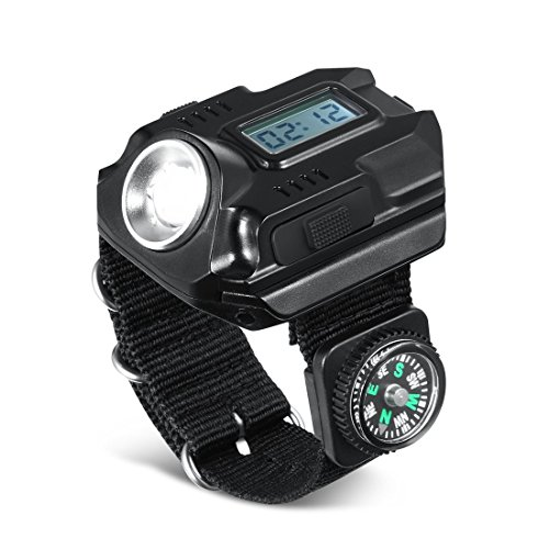 SUNDERPOWER Portable Rechargeable Wrist Light - Waterproof LED Tactical Flashlight