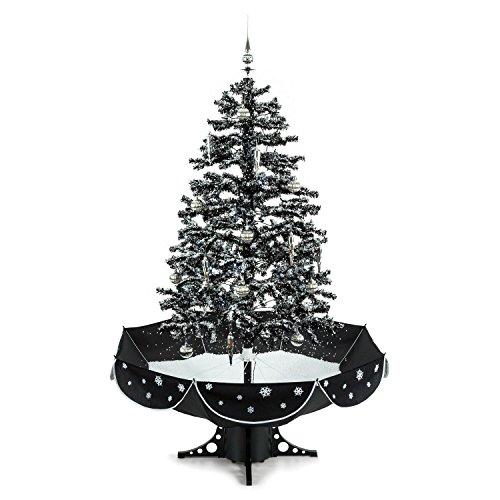 OneConcept Everwhite - künstlicher Weihnachtsbaum, Christbaum, Tannenbaum, Schneefallsimulation, 180 cm hoch, 30-teiliger Baumschmuck, Lichterkette, Blaue LED Beleuchtung