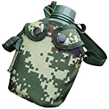 BESPORTBLE Military Water Bottle Army Water Bottle Aluminum Military Canteen Alloy Water Kettle Bottle for Camping Hiking Travel Survival