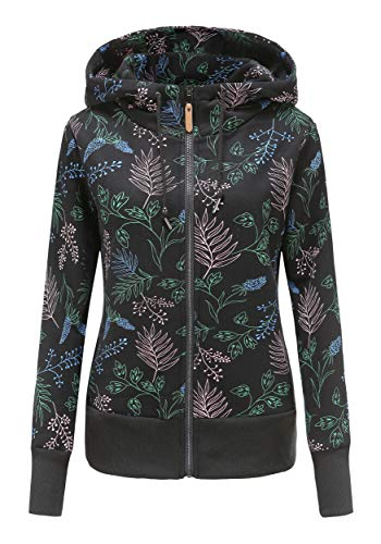 TrendiMax Damen Sweatjacke Kapuzenpullover Zip Hoodie Jacke mit Kapuze Winter Sweatshirt Kapuzenjacke