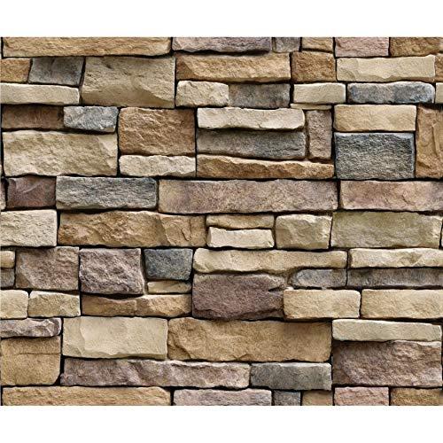 N / E Home 3D piedra ladrillo papel pintado extraíble PVC adhesivo de pared decoración del hogar arte papel de pared para...