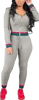 Women's 2 Piece Tracksuit Jumpsuits Zipper Hoodie Bodycon Winter Sweatpants Jogger Sets