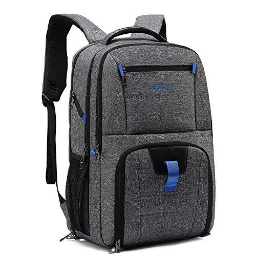 Herren Multifunktion Wasserdicht Reiserucksack mit USB-Ladeanschluss 17,3 Zoll Laptop Business Rucksack