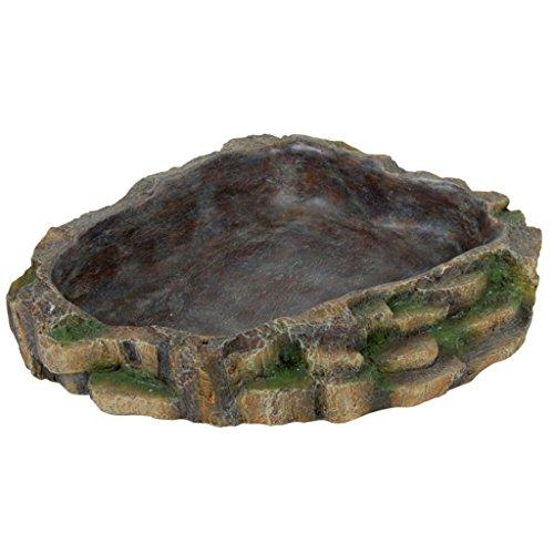 Trixie 76205 Wasser- und Futterschale für Reptilien, 24 × 5,5 × 20 cm