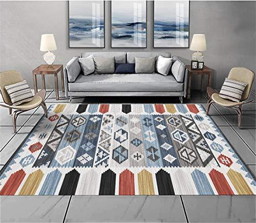 kinntn tapijten 3D High Definition afdrukken en verven. modern, Vintage, Europese stijl huisdecoratie tapijt omgeven door gekleurde hekken milieuvriendelijk, dik, antislip, wasbaar tapijt