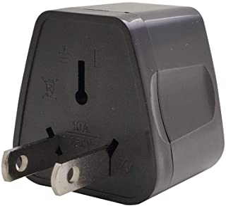 ZOER 全世界対応マルチ変換プラグA型(海外電化製品を日本で利用) A,BF, SE,C, B3, O,B, コンセント変換アダプター 電源形状変換プラグ 世界の家電を日本で使える, 世界のコンセントを日本仕様に変換(002-黒)