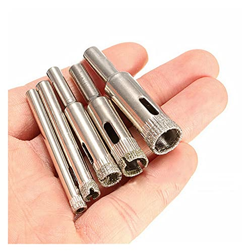 Fxdcy 5 Piezas de Orificio de Diamante Conjunto de bits de Broca Adecuada para azulejo de cerámica de mármol de Vidrio de cerámica de Acero de cerámica Accesorios de Herramienta eléctrica